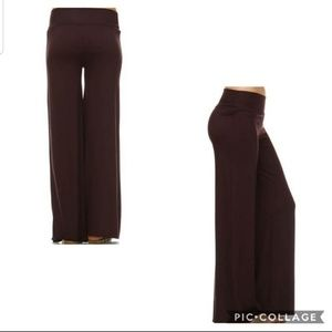 Pants - NEW Sm - Lg Brown Wide Leg Palazzo Pants